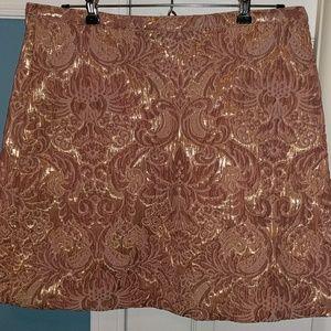 H&M A-line printed skirt